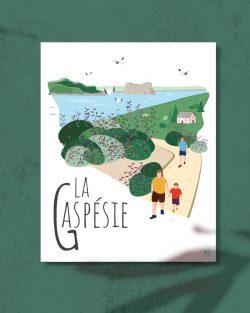Mailys ORY - Graphiste | Illustration - Affiche 8 x 10 po - La Gaspésie