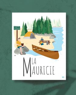 Mailys ORY - Graphiste | Illustration - Affiche 8 x 10 po - La Mauricie