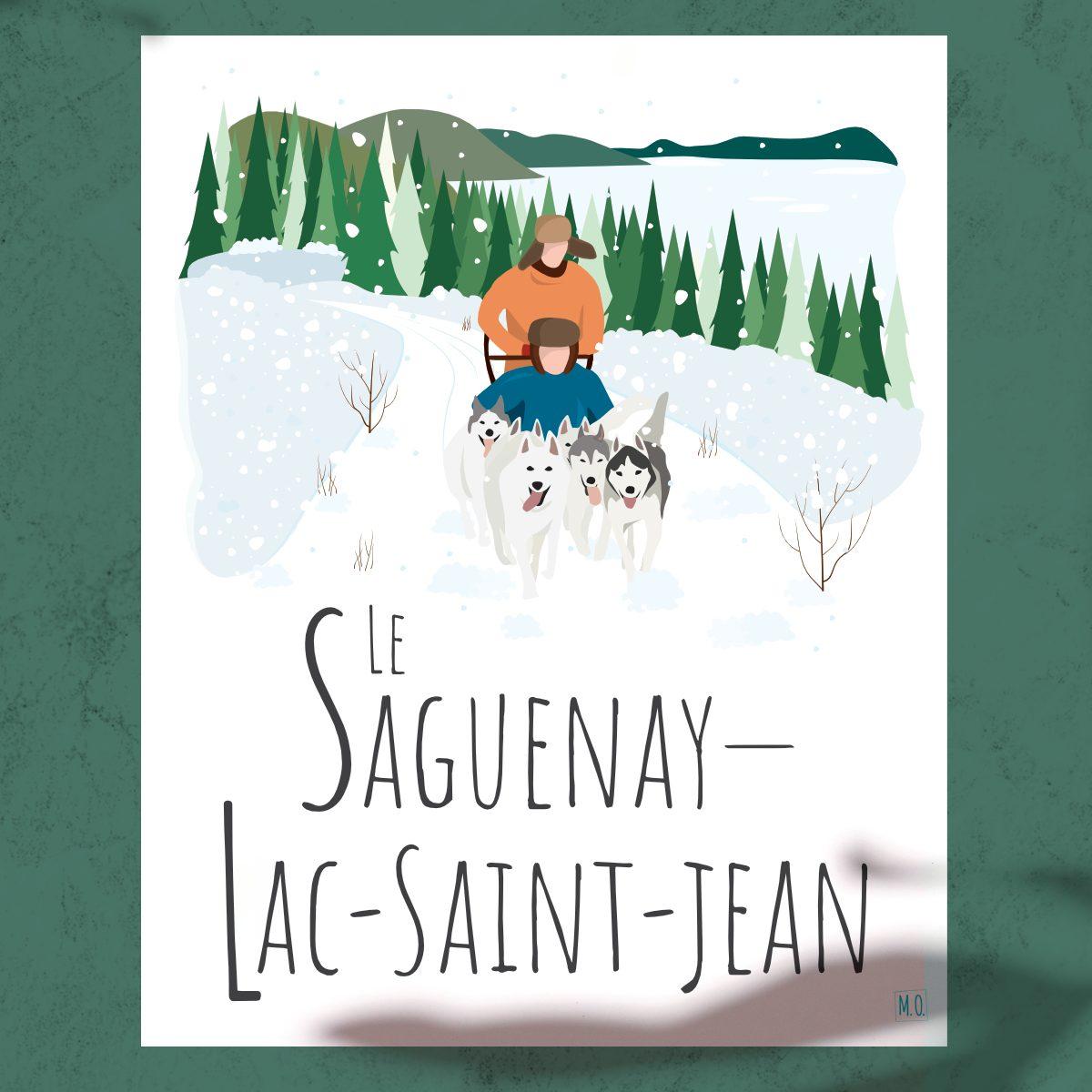 Mailys ORY - Graphiste   Illustration - Affiche - Le Saguenay-Lac-Saint-Jean