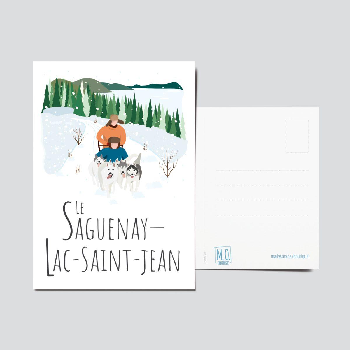 Mailys ORY - Graphiste | Illustration - Carte postale - Le Saguenay-Lac-Saint-Jean