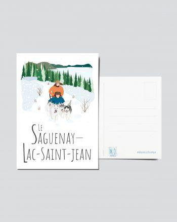 Mailys ORY - Graphiste   Illustration - Carte postale - Le Saguenay-Lac-Saint-Jean