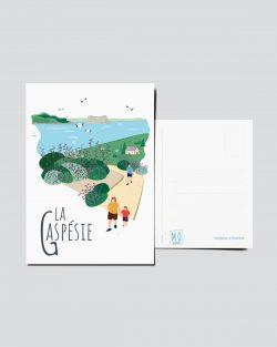 Mailys ORY - Graphiste | Illustration - Carte postale - La Gaspésie
