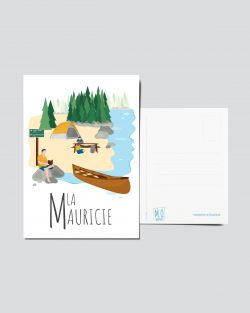 Mailys ORY - Graphiste | Illustration - Carte postale - La Mauricie