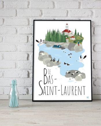 Mailys ORY - Graphiste | Illustration - Affiche 8 x 10 po - Le Bas-Saint-Laurent
