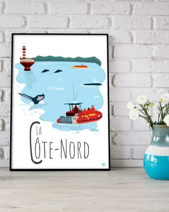 Mailys ORY - Graphiste   Illustration - Affiche 8 x 10 po - La Côte-Nord