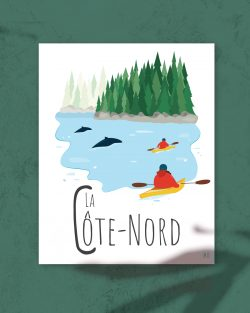 Mailys ORY - Graphiste | Illustration - Affiche 8 x 10 po - La Côte-Nord