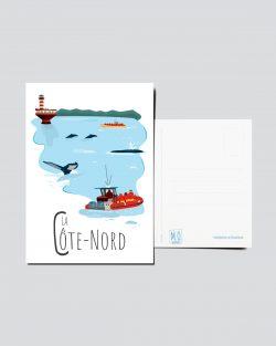 Mailys ORY - Graphiste | Illustration - Carte postale - La Côte-Nord