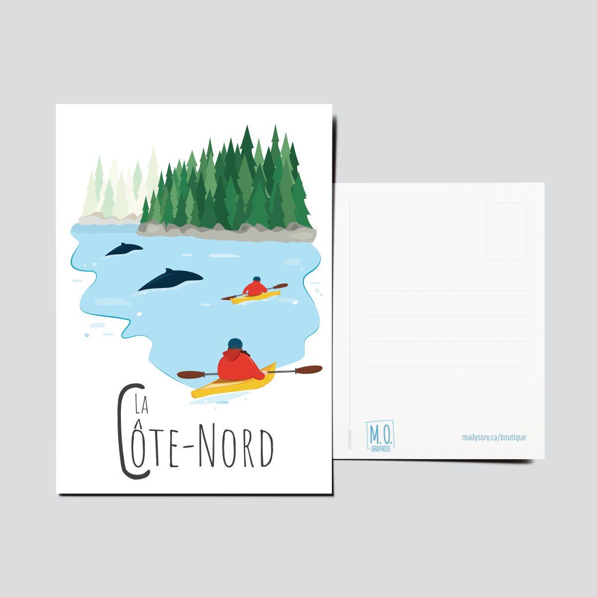Mailys ORY - Graphiste   Illustration - Carte postale - La Côte-Nord