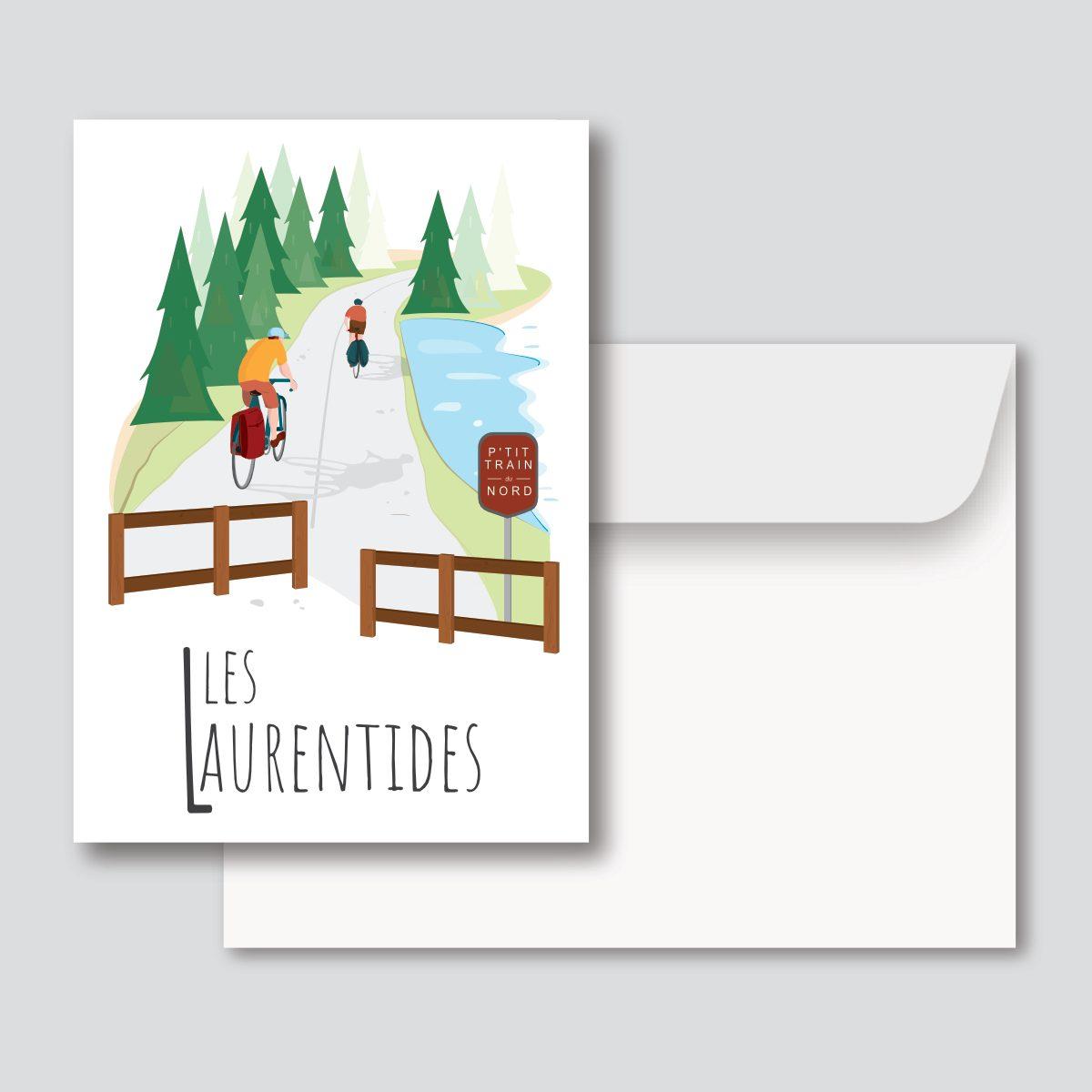 Mailys ORY - Graphiste   Illustration - Carte de souhaits 5 x 7 po - Les Laurentides