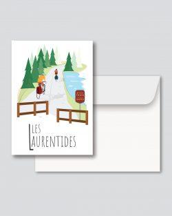 Mailys ORY - Graphiste | Illustration - Carte de souhaits 5 x 7 po - Les Laurentides