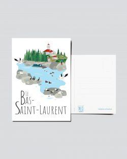 Mailys ORY - Graphiste | Carte postale - Le Bas-Saint-Laurent