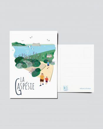 Mailys ORY - Graphiste   Carte postale - La Gaspésie