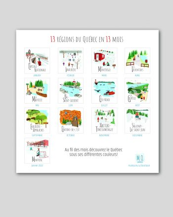 Mailys ORY - Graphiste   Illustration - Calendrier 2021