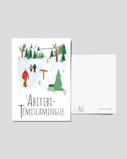 Mailys ORY - Graphiste | Illustration - Carte postale - L'Abitibi-Témiscamingue