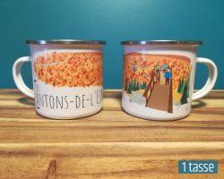 Mailys ORY - Graphiste | Illustration - Tasse en émail - Les Cantons-de-l'Est