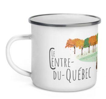 Mailys ORY - Graphiste | Illustration - Tasse en émail - Le Centre-du-Québec