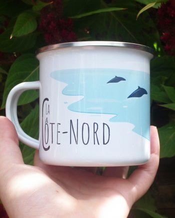Mailys ORY - Graphiste   Illustration - Tasse en émail - La Côte-Nord