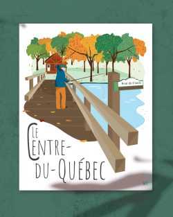 Mailys ORY - Graphiste | Illustration - Affiche 8 x10 po- Le Centre du Québec