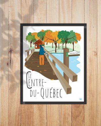 Mailys ORY - Graphiste   Illustration - Affiche 8 x10 po- Le Centre du Québec