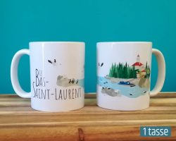 Mailys ORY - Graphiste | Illustration - Tasse en céramique - Le Bas-Saint-Laurent