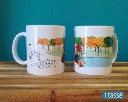Mailys ORY - Graphiste | Illustration - Tasse en céramique - Le Centre-du-Québec
