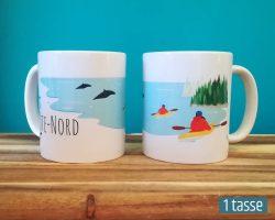 Mailys ORY - Graphiste | Illustration - Tasse en céramique - La Côte-Nord (kayak)