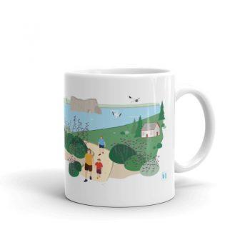 Mailys ORY - Graphiste   Illustration - Tasse en céramique - La Gaspésie