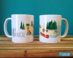 Mailys ORY - Graphiste | Illustration - Tasse en céramique - La Mauricie