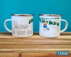 Mailys ORY - Graphiste | Illustration - Tasse en émail - Le Saguenay-Lac-Saint-Jean