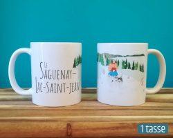 Mailys ORY - Graphiste | Illustration - Tasse en céramique - Le Saguenay-Lac-Saint-Jean