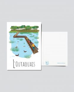 Mailys ORY - Graphiste | Illustration - Carte postale- L'Outaouais