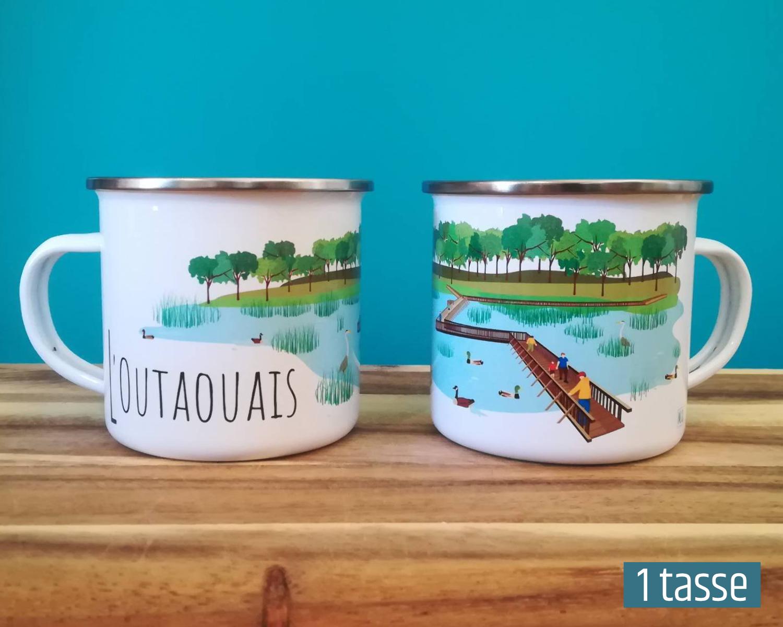 Mailys ORY - Graphiste | Illustration - Tasse en émail - L'Outaouais