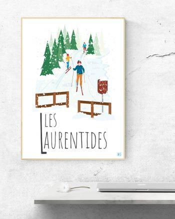 Mailys ORY - Graphiste | Illustration - Affiche 8 x 10 po - Les Laurentides