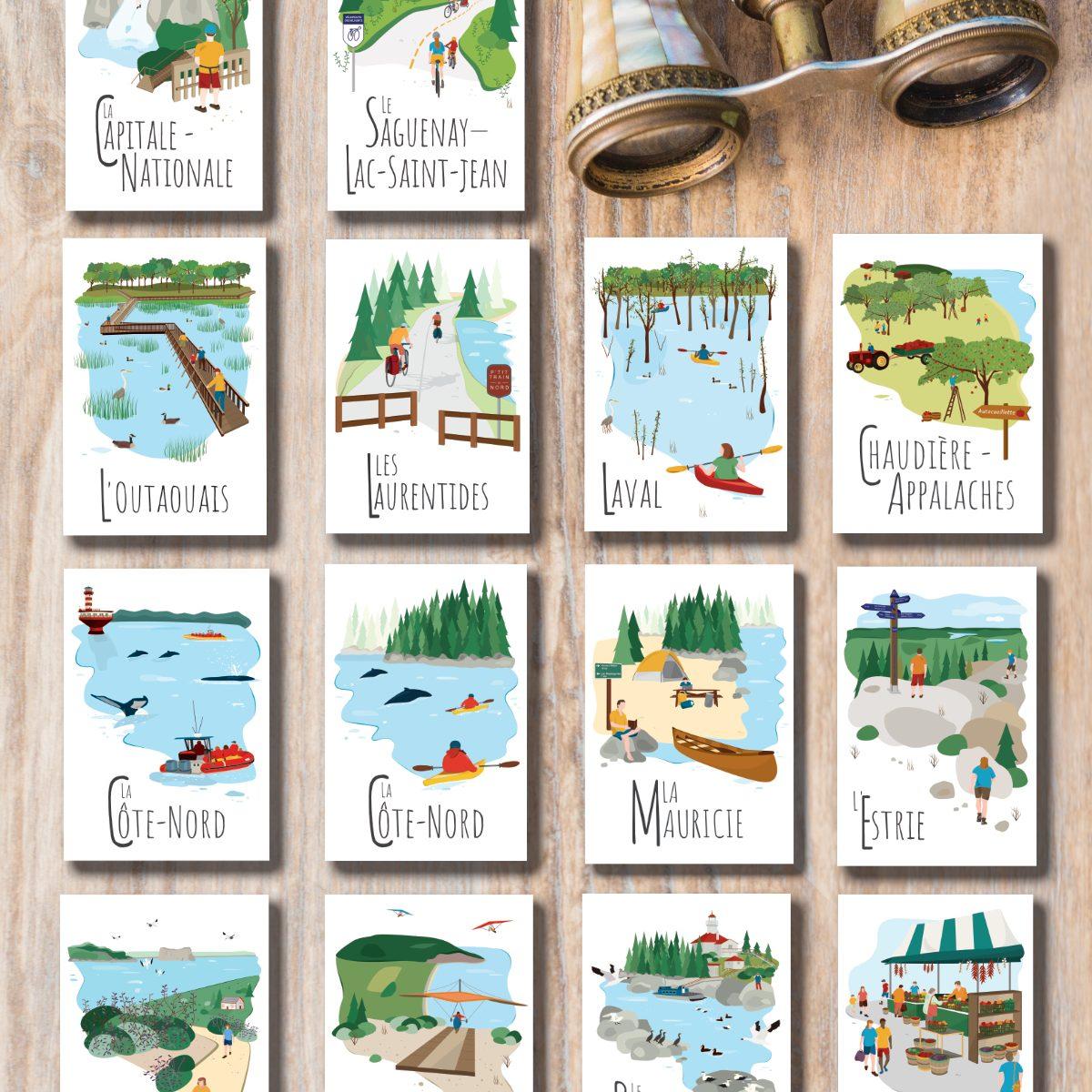 Mailys ORY - Graphiste   Illustration - Cartes postale Le Québec