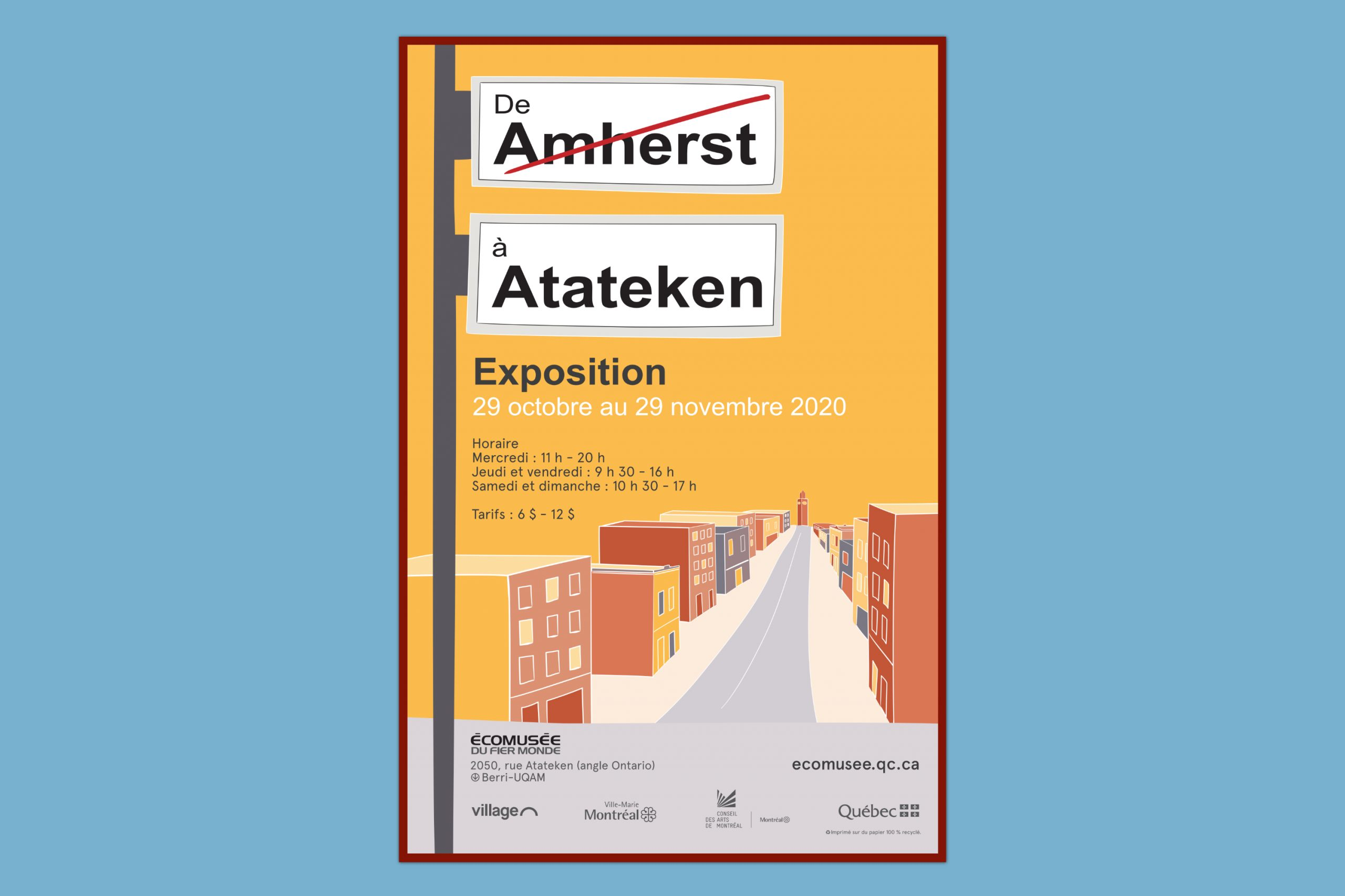 Mailys ORY - Graphiste | De Amherst à Atateken - Affiche