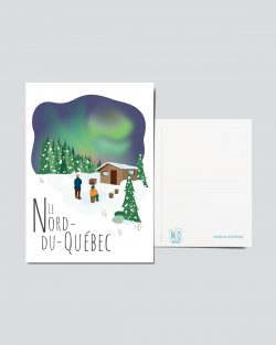 Mailys ORY - Graphiste | Illustration - Carte postale- Le Nord-du-Québec