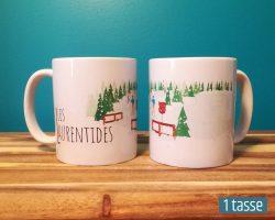 Mailys ORY - Graphiste | Illustration - Tasse en céramique - Les Laurentides en hiver