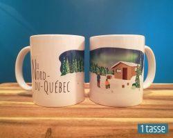 Mailys ORY - Graphiste | Illustration - Tasse en céramique - Le Nord-du-Québec