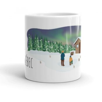 Mailys ORY - Graphiste   Illustration - Tasse en céramique - Le Nord-du-Québec