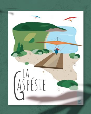 Mailys ORY - Graphiste   Illustration - Affiche - La Gaspésie