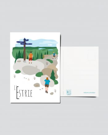 Mailys ORY - Graphiste   Illustration - Carte postale- L'Estrie