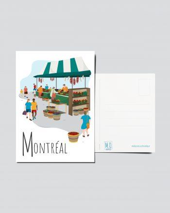 Mailys ORY - Graphiste   Illustration - Carte postale- Montréal