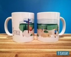 Mailys ORY - Graphiste | Illustration - Tasse en céramique - L'Estrie