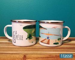 Mailys ORY - Graphiste | Illustration - Tasse en émail - La Gaspésie