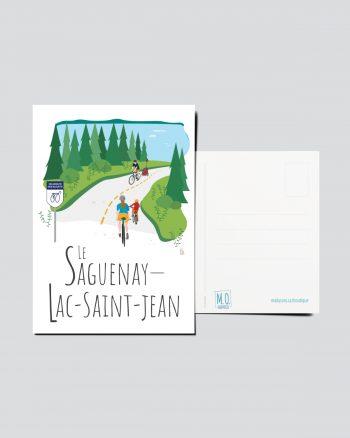 Mailys ORY - Graphiste   Illustration - Carte postale- Le Saguenay-Lac-Saint-Jean
