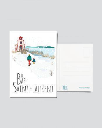 Mailys ORY - Graphiste   Illustration - Carte postale- Le Bas-Saint-Laurent