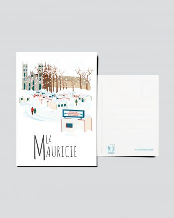 Mailys ORY - Graphiste   Illustration - Carte postale- La Mauricie